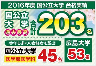 総合/高校部2016合格実績